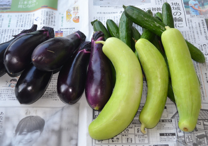 石割さんが育てた野菜