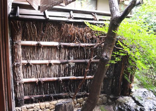 古武邸の柴垣
