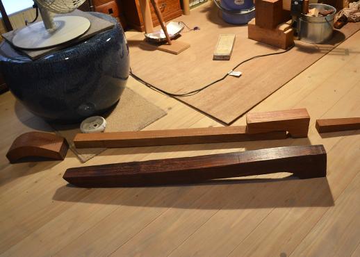 野中智史さんが作った三味線の部品