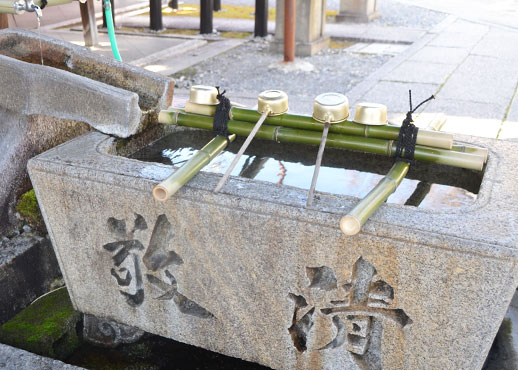 下御霊神社の手水舎