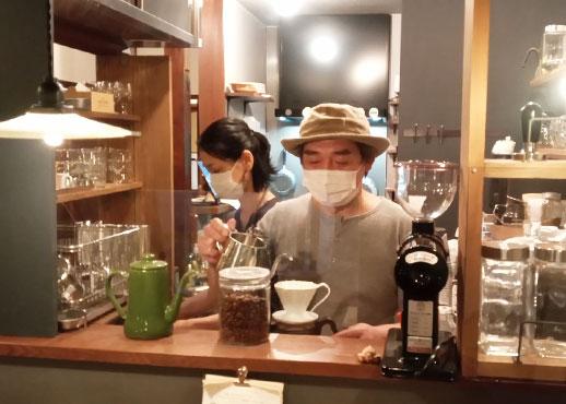 cafe oriji カフェ オリジ のオーナー夫妻